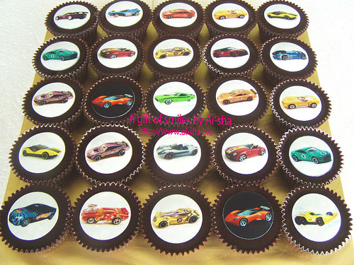 Birthday Cupcakes Edible Image Hotwheels