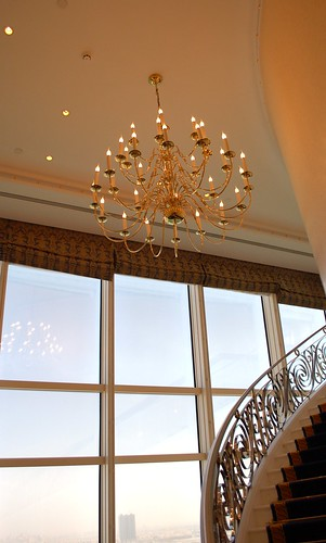 chandelier in our suite