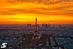 Sunset from Montparnasse (A.G. Photographe) Tags: sunset sky cloud paris france tower nikon tour cloudy eiffeltower eiffel ciel toureiffel ag nikkor nuage montparnasse français hdr parisian anto couchédesoleil photographe tourmontparnasse xiii parisien d700 antoxiii photoengine hdr5raw oloneo agphotographe