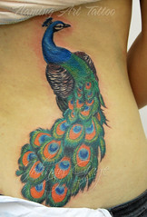 peacock tattoo (johnny gage) Tags: color colour bird girl tattoo ink back wings skin wing peacock highlights tattoos coloured shaded tattooed tattood johnnygage whitehighlights