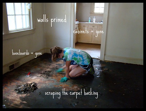 Scraping floors