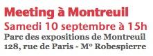 Meeting à̀ Montreuil Samedi 10 septembre aà 15h