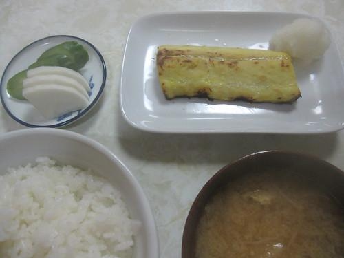 さわらの西京漬焼き定食@食堂金ちゃん(練馬)