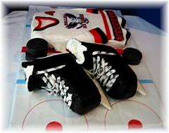 hockey skates and jersey (Cake Diane Custom Cake Studio (eyedewcakes)) Tags: ice sports hockey cake sweater skate jersey