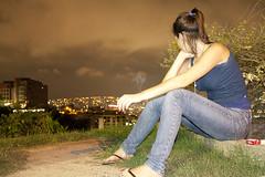 Ela pensando nele (ArSalles) Tags: city sky woman girl beautiful beauty fashion canon landscape eos model view venezuela smoke cigar modelo caracas cigarrette ccs vallearriba 1000d