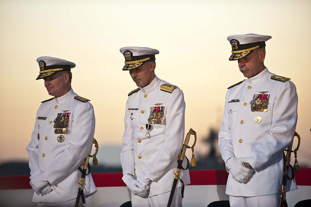 Change of Command Ceremony aboard USS Blue Ridge (LCC 19)