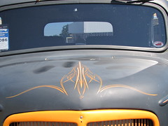 pinstripe detail (bballchico) Tags: detail truck 1938 mack coe carshow hotrods pinstripe goodguys goodguyspacificnorthwestnationals