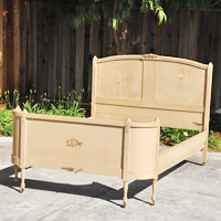 Vintage Beige Bed by Over The Moon Vintage Rentals