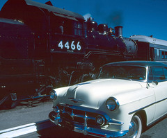 two old timers (Slideshow Bruce) Tags: railroad up train steam chevy sacramento 4466