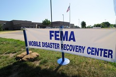 2008_FEMA_Mobile Center sign (University of Wisconsin Sea Grant/Water Resources ) Tags: wisconsin floods fema wisconsinseagrant