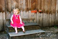 DSC_6336 (Lynn.Marie) Tags: wood girl oregon barn toddler reddress dorrisranch