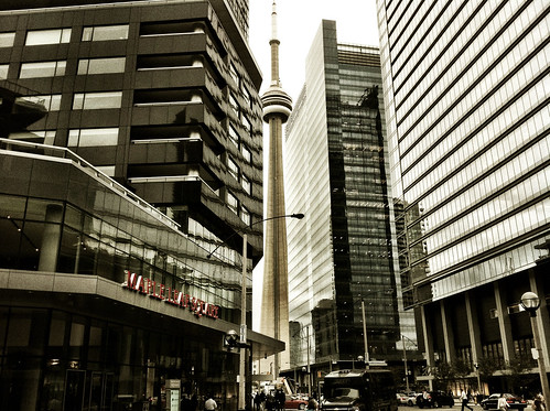 Maple Leaf Square and the tower - #249/365 by PJMixer