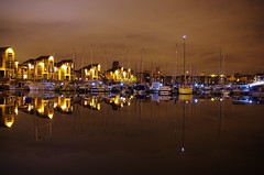 Liverpool Harbour (Stanley72) Tags: night liverpool reflections noche nacht nightime nuit waterreflections