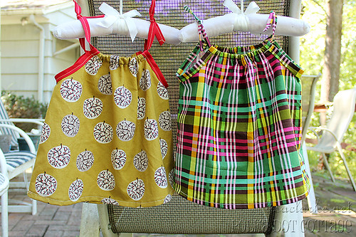 Dresses for a couple of little friends