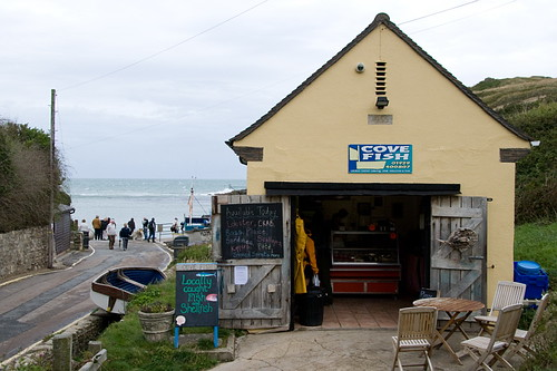 Fish shop at Lulworth Cove, Dorset
