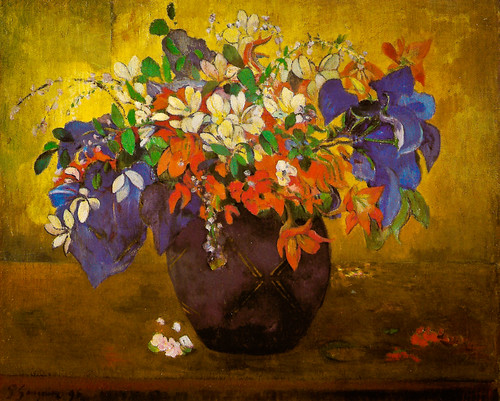 Paul Gauguin - A Vase of Flowers at the National Gallery London England by mbell1975