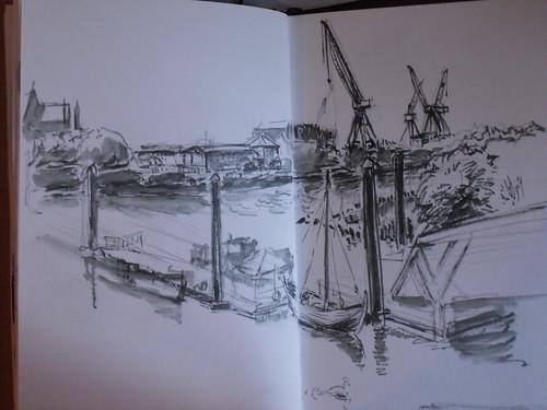 Riverside museum dock