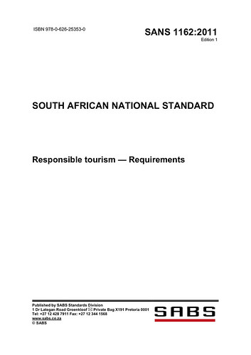 South African National Standard for Responsible Tourism