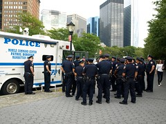PBMS NYPD Police Officers, Battery Park City, New York City (jag9889) Tags: city nyc blue ny newyork tower cars skyscraper construction cops traffic manhattan surveillance south worldtradecenter police nypd progress highrise borough wtc groundzero department lawenforcement patrol finest checkpoint officers 9112001 10thanniversary 91101 2011 freedomtower firstresponders 10048 newyorkcitypolicedepartment zip10048 pbms 1wtc y2011 wtcprogesscom jag9889