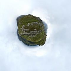 Broken (edwardhorsford) Tags: trip mountain lake holiday grass wales climb stitch little path ninja walk wide panoramic hike planet snowdon snowdonia scramble llyn 360 stereographic hugin llydaw nodal