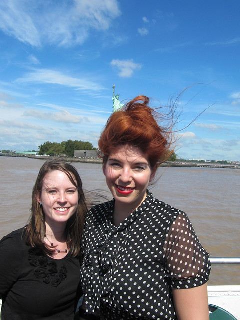 Perfect day for a cruise, Elizabeth Cronin and blogger Cate Sevilla