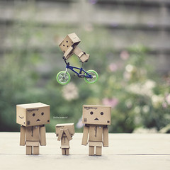 220 of 365 (Morphicx) Tags: bike bokeh levitation canon5d 365 levitating danbo  canon50mmf14 danbofamily 365shotsin365days danbosbmx
