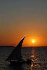 Dhow at Dusk (Caneles) Tags: sunset sea silhouette sailing dusk sail zanzibar dhow bestcapturesaoi artistoftheyearlevel3 artistoftheyearlevel4