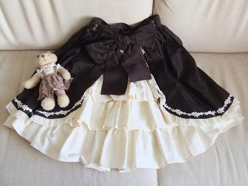 Classical Bustle Skirt Back