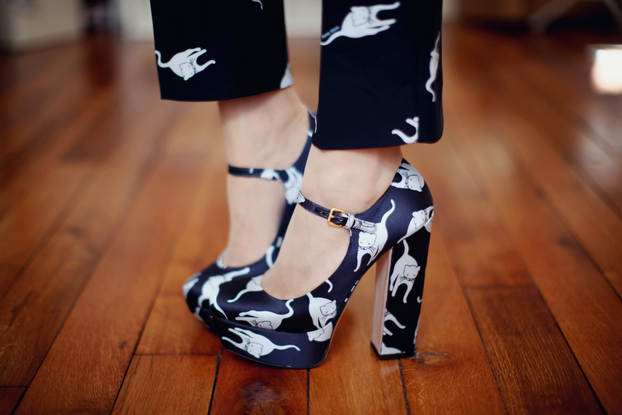 Miu miu cat shoes and pants