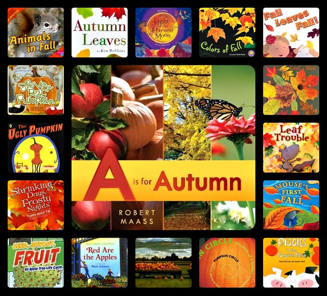 Autumn books collage