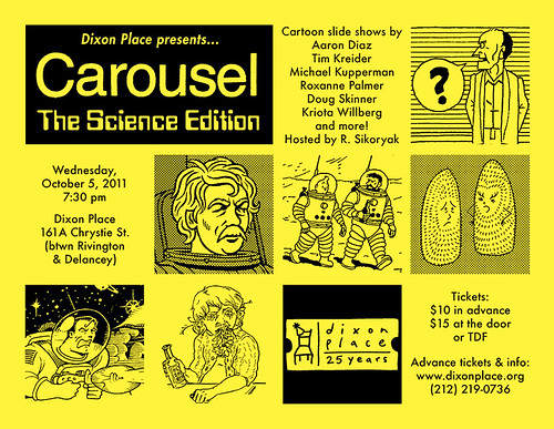 Michael Kupperman and Tim Kreider at Carousel: The Science Edition