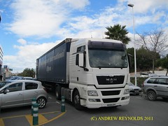 2011 0217 07 MAN TGX 2008 FROM RIPON DELIVERING IN ALBIR NX08GPV (Andrew Reynolds transport view) Tags: from man truck spain europe diesel transport goods lorry commercial transit 2008 07 tga ripon delivering in albir 2011 0217 tgx allecante nx08gpv