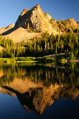 Lake Blanche with Sundial Peak in the backgroud