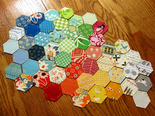 hexies for the back of my farmer's wife quilt