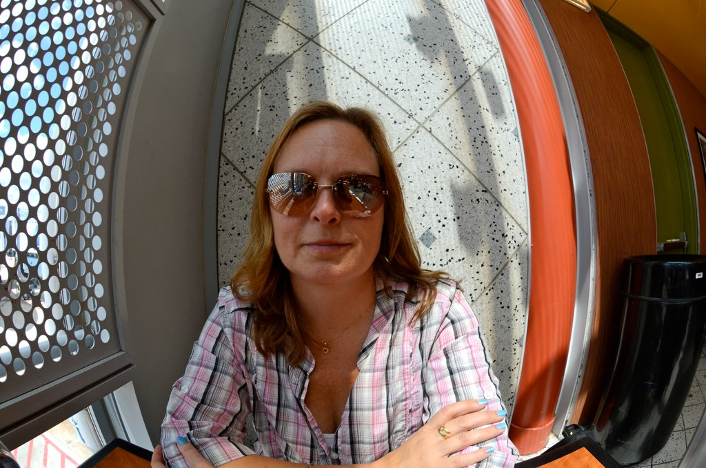 Pernilla at Ohare (fisheye)