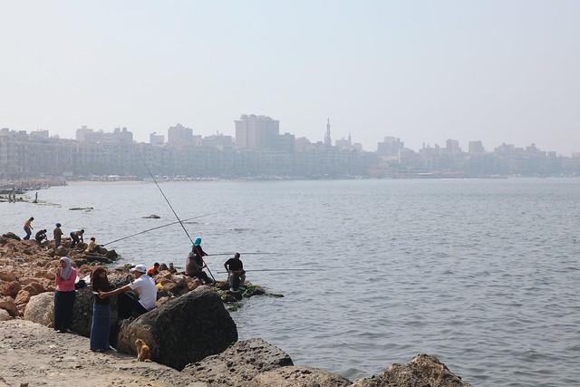 エジプト、アレキサンドリアの海岸