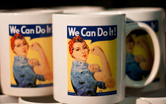 ...is it Rosie the Riveter...or ~nut*meg~ ??? (Ar~Pic) Tags: california history canon mugs meg rosie huge aircraftcarrier bam wecandoit bams nutmeg womensday humongous ussmidway loveem sofun theriveter sofree socreative