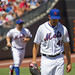 Jon Niese walks off the mound