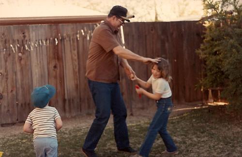 My Grandpa and I horsing around