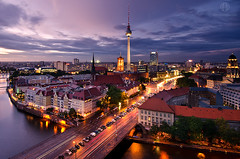 Berlin After the Rain (Dietrich Bojko Photographie) Tags: longexposure berlin tower germany deutschland evening abend tv nikon bravo europe cityscape view east blackcard dietrichbojko d7000 visipix mygearandme mygearandmepremium mygearandmebronze mygearandmesilver mygearandmegold mygearandmeplatinum dietrichbojkophotographie aglowingcity terrifficworkwithlightncolor