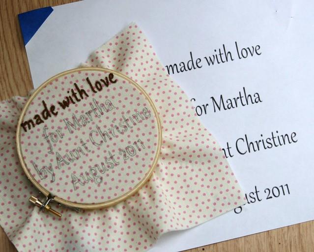 Martha's Quilt Label