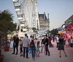 IMG_6214ap (damian5d) Tags: carnival paris france tourism 35mm canon fairground tourists tuileries bigwheel stitched crowds eveninglight parisinsummer