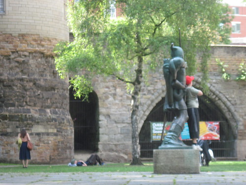 Posing With Robin Hood