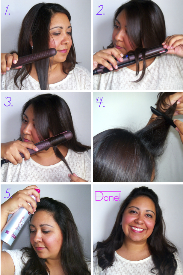 how to create big curls with straightener