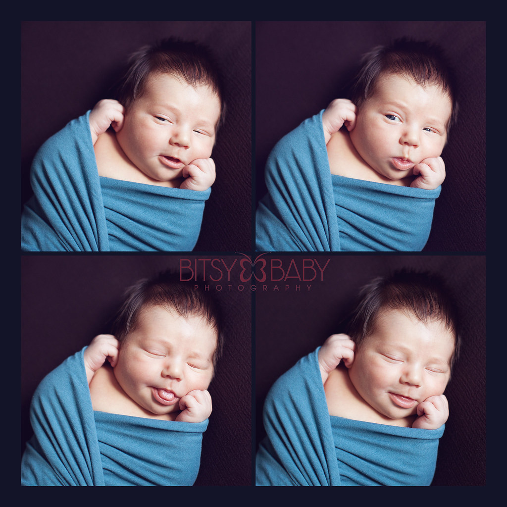 newborn photographers faces collage