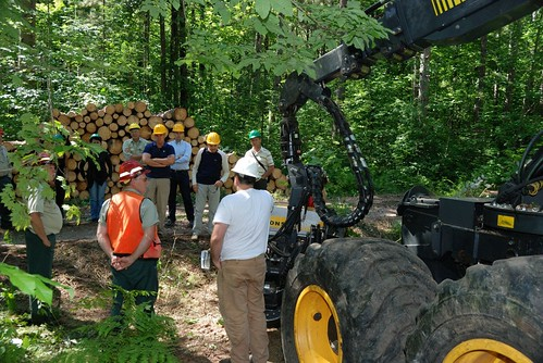 Delegation toured lumber mills and met with area loggers.