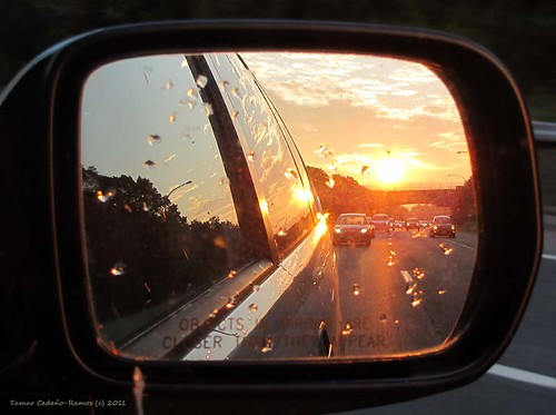 Rear View Mirror Sunrise