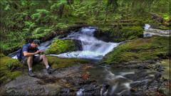 Patience (Just Used Pixels) Tags: green water river washington moss waiting stream falls waterfalls slowshutter hdr panthercreek panthercreekfalls