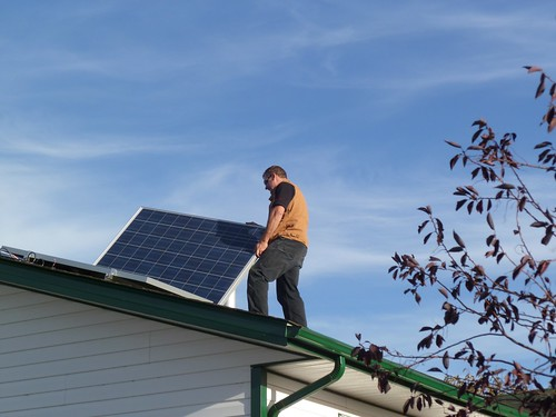Solar PV+hot water installation Tina Regehr Medicine Hat - 21