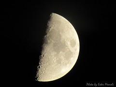 Moon, Luna. ISO-100, exp. 1/30s, zoom 2.7